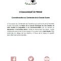 SAN MARTINO : COMMÉMORATION DU CENTENAIRE DE LA GRANDE GUERRE CE DIMANCHE 11 NOVEMBRE 2018